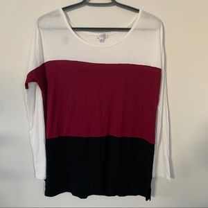 💐CHARMING CHARLIE Tri-color Tops Size M